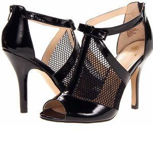 NWOT/B Isola Mesh Glossy Leather Heels